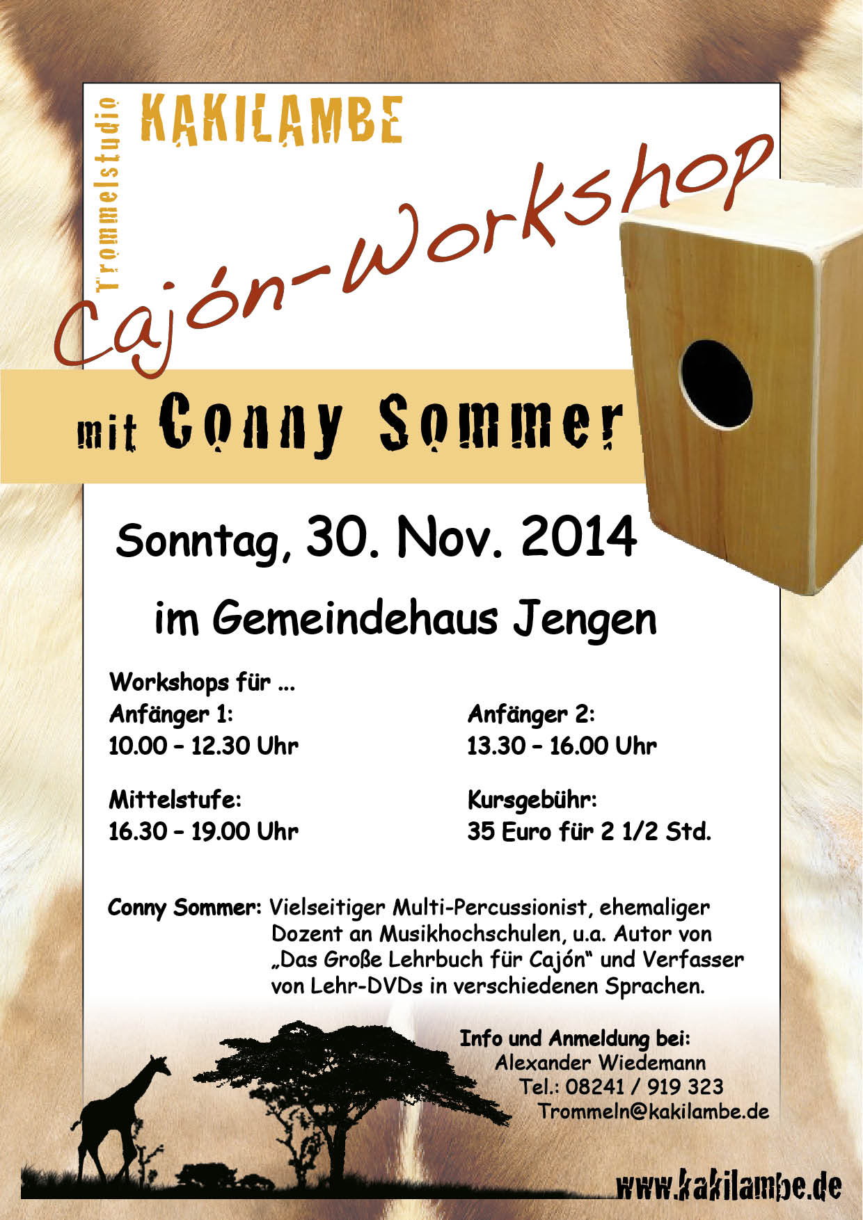 4. Workshoptag mit Conny Sommer