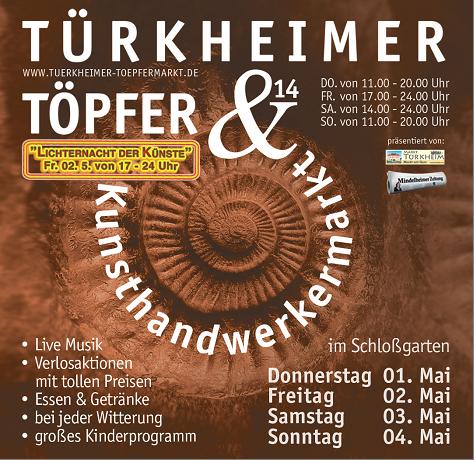 Türkheimer Töpfermarkt - Flyer